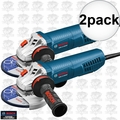 """Bosch GWS13-50VSP-RT 13Amp 5"""" Angle Grinder Variable Speed w/Paddle 2x"""