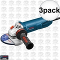 """Bosch GWS13-50VSP-RT 13Amp 5"""" Angle Grinder Variable Speed w/Paddle 3x"""