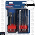 Bosch HCST006 6pc SDS-Plus Bulldog Rotary Hammer Bit Set 4x