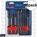 Bosch HCST006 6pc SDS-Plus Bulldog Rotary Hammer Bit Set 8x