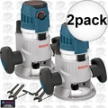 """Bosch MRF23EVS 2.3HP Fixed Base Router 1/2"""" & 1/4"""" Collets Inc. 2x"""