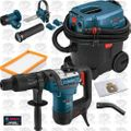 "Bosch RH540M-RT 1-9/16"" SDS MAX Rotary Hammer w/HEPA Vac&Dust Attchmnt"