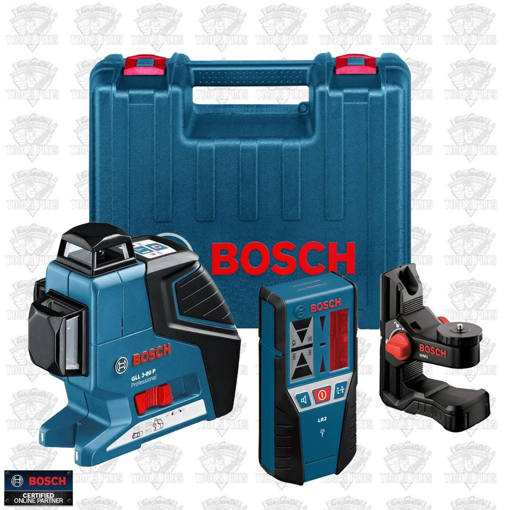 Bosch Tools GLL3-80-LR2 3 Plane Leveling and Alignment Laser w  Receiver Kit bbdc0791b852
