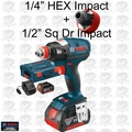 "Bosch Tools IDH182-01L Brushless Socket Ready Impact w/ 1/4"" Hx+1/2"" Sq 4Ah"