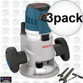 "Bosch Tools MRF23EVS 3x 2.3HP Fixed Base Router 1/2"" & 1/4"" Collets Inc."