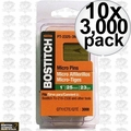 "Bostitch PT-2330-3M 3,000pk 1-3/16"" 23GA Headless Pin Nails 10x"