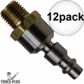 "Coilhose 15-04BS-DL 12x 1/4"" NPTM Air Tool Swivel Coupler Connector Plug"