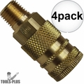 "Coilhose 152-DL 1/4"" NPT Male M Coupler Body Air Fitting 4x"