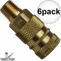 "Coilhose 152-DL 1/4"" NPT Male M Coupler Body Air Fitting 6x"