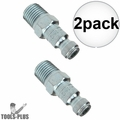 "Coilhose 1601 1/4"" NPT Male T Plug Air Fitting 2x"