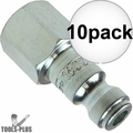 "Coilhose 1602 1/4"" NPT Female T Plug Air Fitting 10x"