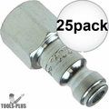 "Coilhose 1602 1/4"" NPT Female T Plug Air Fitting 25x"
