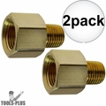"Coilhose C0604-DL 2x 3/8"" FPT x 1/4"" MPT Hex Adapter"