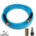 "Coilhose PFE41004T-1502-150 3pc 1/4"" x 100' Flexeel Air Hose, Couplers Kit"