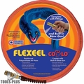 "Coilhose PFE4100TQ15CB 1/4"" 100' Flexeel Orange Air Hose w/ CoBlo Blow Gun"