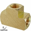 """Coilhose T004-DL Brass 1/4"""" FPT Tee Manifold"""