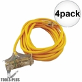 Coleman Cable 03487 25' 12/3 Wire 3-Way Extension Cord 4x