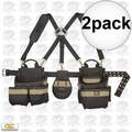Custom Leathercraft 1614 5pc Comfort Lift Combo Pouch System Polyester 2x