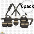 Custom Leathercraft 1614 5pc Comfort Lift Combo Pouch System Polyester 6x