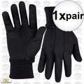 Custom Leathercraft 2011 9oz Black Jersey Work Gloves