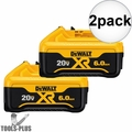 DeWalt DCB206-2 20-Volt MAX XR Lithium-Ion Premium Battery Pack 6.0Ah 2pk