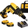 DeWalt DCF620B 20V MAX XR Li-Ion Drywall ScrewGun w/2 5Ah Battery+Charger