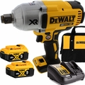 "DeWalt DCF897B 20V XR Brushless 3/4"" Impact w/Hog Ring+2 5Ah Battery+Charger"