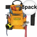 DeWalt DG5333 8pk 10-Pocket Carpenter's Suede Nail and Tool Bag