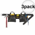 DeWalt DG5472 12-Pocket Leather Tool Belt Pouch Set 3x
