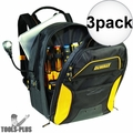 DeWalt DGCL33 33-Pocket Lighted USB Charging Tool Backpack 3x
