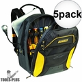 DeWalt DGCL33 33-Pocket Lighted USB Charging Tool Backpack 5x