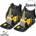 DeWalt DGL523 Lighted Tool Backpack Bag 57-Pockets 2x