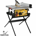 DeWalt DWE7491X 10 In. Job Site Table Saw with Scissor Stand