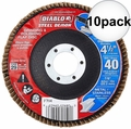 "Diablo DCX045040N01F 4-1/2"" Steel Demon Flap Disc 40 Grit 10x"