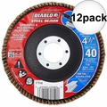 "Diablo DCX045040N01F 4-1/2"" Steel Demon Flap Disc 40 Grit 12x"