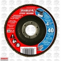 "Diablo DCX045040N01F 4-1/2"" Steel Demon Flap Disc 40 Grit"