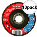 "Diablo DCX045060N01F 4-1/2"" Steel Demon Flap Disc 60 Grit 10x"
