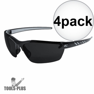 015f462bc97 Edge Eyewear DZ116-2.0-G2 4x 4x Zorge Safety Glasses - Black w Smoke Lens -  2x Mag