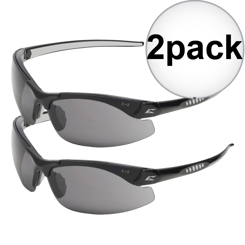 50662e3e1b8 Edge Eyewear DZ116-G2 Black Frame - Smoke Lens Zorge G2 Safety Glasses 2x