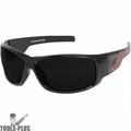 Edge Eyewear HZ116-V1 Caraz Vigilante Black/Red Snakeskin Safety Glasses