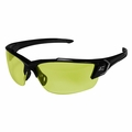 Edge Eyewear SDK112-G2 Khor G2 Black Safety Glasses with Yellow Lens