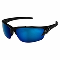 Edge Eyewear SDK118-G2 Khor G2 Black Safety Glasses with Blue Mirror Lens