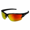 Edge Eyewear SDKAP119-G2 Khor G2 Black Aqua Red Mirror Lens Safety Glasses