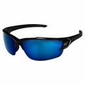 Edge Eyewear TSDKAP218-G2 Khor G2 Black Polarized Aqua Blue Safety Glasses