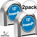Empire 300-12 12' Chrome Tape Measure 2x