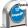 Empire 300-12 12' Chrome Tape Measure 3x