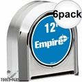 Empire 300-12 12' Chrome Tape Measure 6x