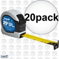 "Empire 7526 1"" x 25' Power Grip Tape Measure 20x"