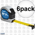 "Empire 7526 6x 1"" x 25' Power Grip Tape Measure"