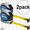 "Empire 7526 2x 1"" x 25' Power Grip Tape Measure"